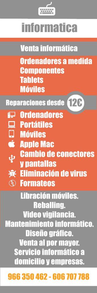 Productos y servicios de informárica en Alicante. Tecnofic a su servicio